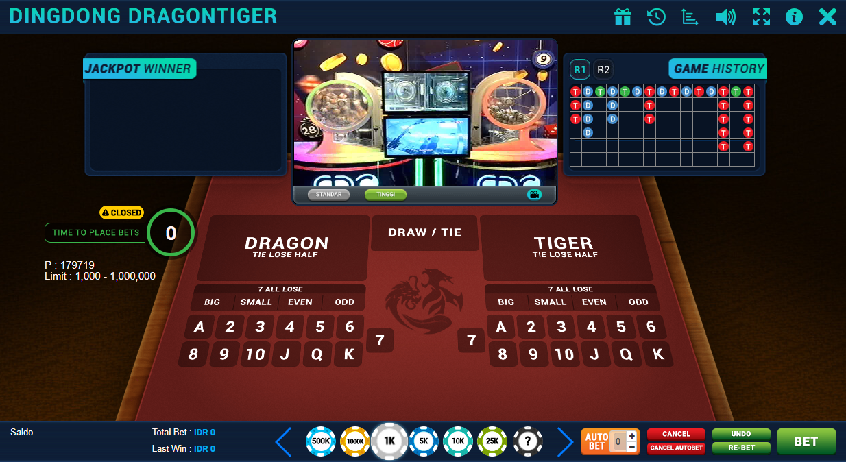 Panel Betting Dingdong Dragon Tiger Di Jayagaming