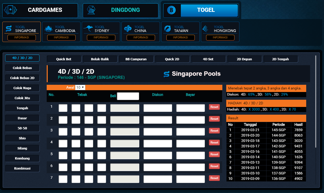 Panel Betting Togel Di Jayagaming